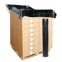 Topvellen zwart 150x180 cm dikte 30my,  200 vel op rol