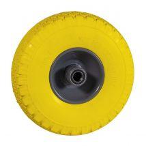 Steekwagenwiel geel antilek 300x4 Ø250 mm