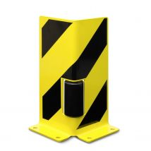 Stellingbescherming L-profiel 400 mm hoog met roller