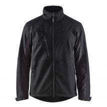 Werkjas Blåkläder 4950 Softshell Zwart/Grijs - voorkant