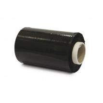 Mini-wikkelfolie bundelfolie 20my zwart 10 cm x 150 meter